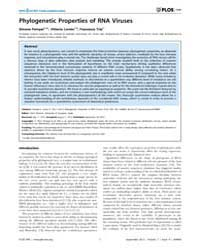 Plos One : Phylogenetic Properties of Rn... by Moreno, Yamir