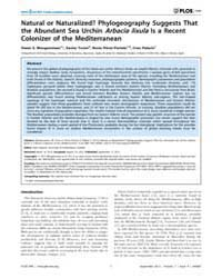 Plos One : Natural or Naturalized Phylog... by Dupont, Sam