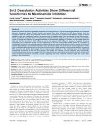 Plos One : Sirt5 Deacylation Activities ... by Csermely, Peter