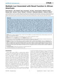 Plos One : Multiple Loci Associated with... by Thameem, Farook