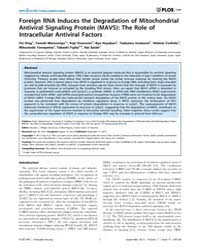 Plos One : Foreign Rna Induces the Degra... by Polyak, Stephen J.