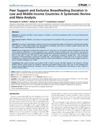 Plos One : Peer Support and Exclusive Br... by Amre, Devendra