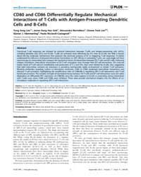 Plos One : Cd80 and Cd86 Differentially ... by Agrewala, Javed N.
