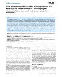 Plos One : Prostanoid Receptors Involved... by Seifert, Roland