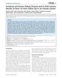 Plos One : Incidence of Chronic Kidney D... by Sen, Utpal