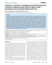 Plos One : Interferon-γ Restricts Toxopl... by Blader, Ira