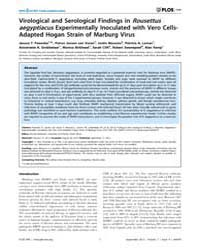 Plos One : Virological and Serological F... by Markotter, Wanda