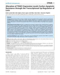 Plos One : Alteration of Tead1 Expressio... by Hong, Wanjin
