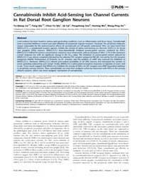 Plos One : Cannabinoids Inhibit Acid-sen... by Barnes, Steven