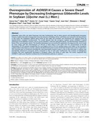 Plos One : Overexpression of Atdreb1A Ca... by Blazquez, Miguel A.