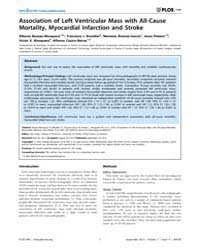 Plos One : Association of Left Ventricul... by Gong, Yan