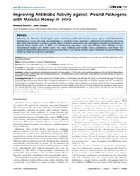 Plos One : Improving Antibiotic Activity... by Vadivelu, Jamunarani