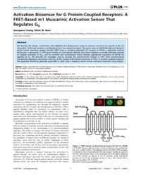 Plos One : Activation Biosensor for G Pr... by Koch, Karl-wilhelm