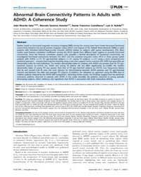 Plos One : Abnormal Brain Connectivity P... by Fan, Yong