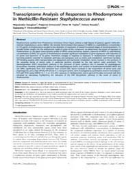 Plos One : Transcriptome Analysis of Res... by Otto, Michael