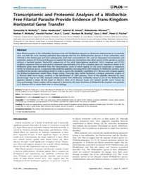 Plos One : Transcriptomic and Proteomic ... by Parkinson, John