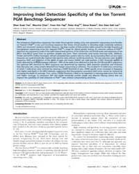 Plos One : Improving Indel Detection Spe... by Aerts, Jan
