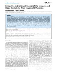 Plos One : Similarities in the Neural Co... by Gribble, Paul, L.