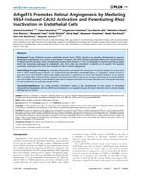 Plos One : Arhgef15 Promotes Retinal Ang... by Ohlmann, Andreas
