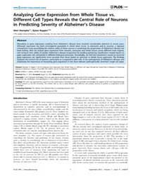 Plos One : Analyzing Gene Expression fro... by Leblanc, Andrea, C.