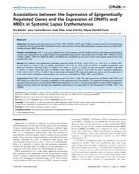 Plos One : Associations Between the Expr... by Liossis, Stamatis-nick