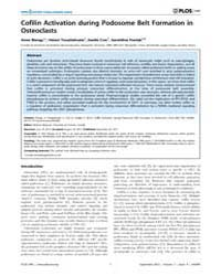 Plos One : Cofilin Activation During Pod... by Glogauer, Michael