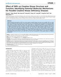Plos One : Effect of Snps on Creatine Ki... by Maga, Giovanni