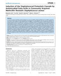 Plos One : Induction of the Staphylococc... by Otto, Michael