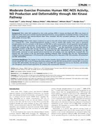 Plos One : Moderate Exercise Promotes Hu... by Gaetano, Carlo