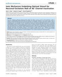 Plos One : Ionic Mechanism Underlying Op... by Maravall, Miguel