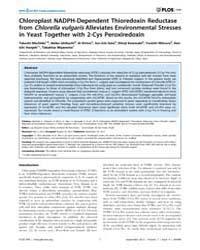 Plos One : Chloroplast Nadph-dependent T... by Netto, Luis, Eduardo Soares