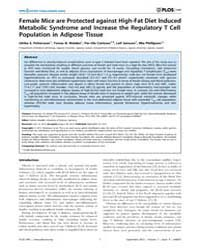 Plos One : Female Mice Are Protected Aga... by Maedler, Kathrin