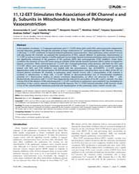 Plos One : 11,12-eet Stimulates the Asso... by Morty, Rory, Edward