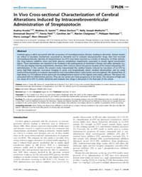 Plos One : in Vivo Cross-sectional Chara... by Allinquant, Bernadette