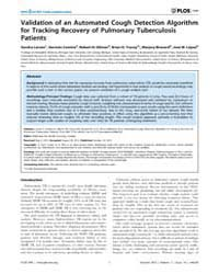 Plos One : Validation of an Automated Co... by Pai, Madhukar