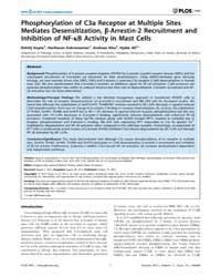 Plos One : Phosphorylation of C3A Recept... by Gao, Hongwei