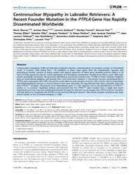 Plos One : Centronuclear Myopathy in Lab... by Veitia, Reiner, Albert