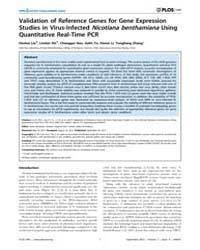 Plos One : Validation of Reference Genes... by Vinatzer, Boris, Alexander