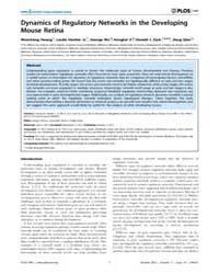 Plos One : Dynamics of Regulatory Networ... by Gomez, Sergio