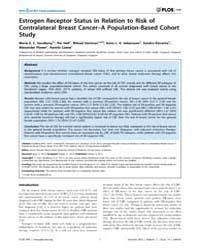 Plos One : Estrogen Receptor Status in R... by Ahmad, Aamir
