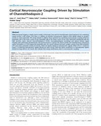 Plos One : Cortical Neurovascular Coupli... by Maravall, Miguel