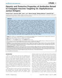 Plos One : Opsonic and Protective Proper... by Horsburgh, Malcolm, James