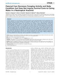 Plos One : Paternal Care Decreases Forag... by Rands, Sean, A.