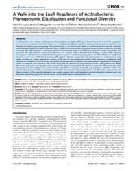Plos One : a Walk Into the Luxr Regulato... by Badger, Jonathan, H.