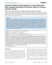 Plos One : Impaired Cerebral Autoregulat... by Arumugam, Thiruma, V.