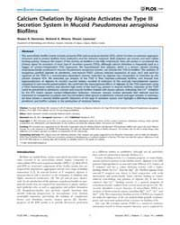 Plos One : Calcium Chelation by Alginate... by Bereswill, Stefan