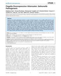 Plos One : Flagella Overexpression Atten... by Kaufmann, Gunnar F.
