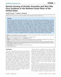 Plos One : Remote Sensing of Climatic An... by Khudyakov, Yury E.
