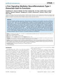 Plos One : C-fms Signaling Mediates Neur... by Glogauer, Michael