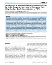 Plos One : Degeneration of Axotomized Pr... by Gillingwater, Thomas H.
